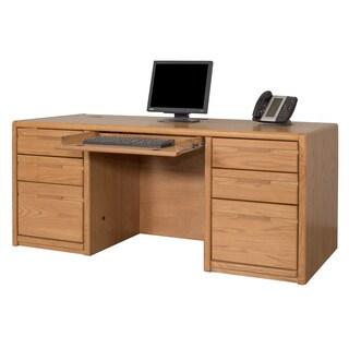 Cardiff Double Pedestal Wood Finish Executive Desk