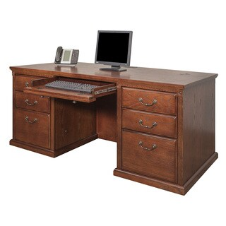 Havington Overbrook Burnished Wood Double-pedestal Executive Desk
