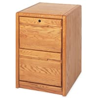 Cardiff Brown Wood 2-drawer File Cabinet