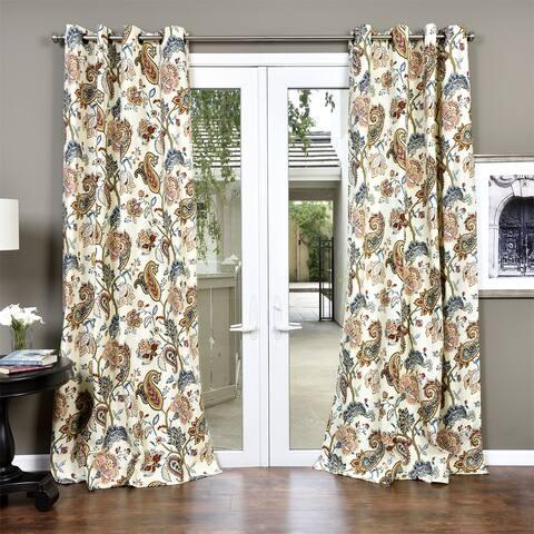 Lambrequin Boho Paisley Cotton Curtain Panel