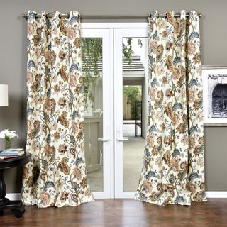 Link to Lambrequin Boho Paisley Cotton Curtain Panel Similar Items in Curtains & Drapes