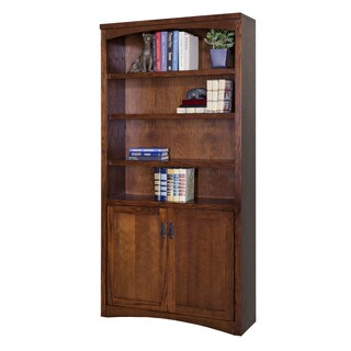 Mission Park Brown Wood Library Bookcase