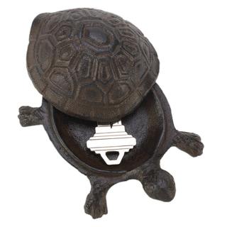 Koehler Home Decor Cast Iron Garden Turtle Key Hider