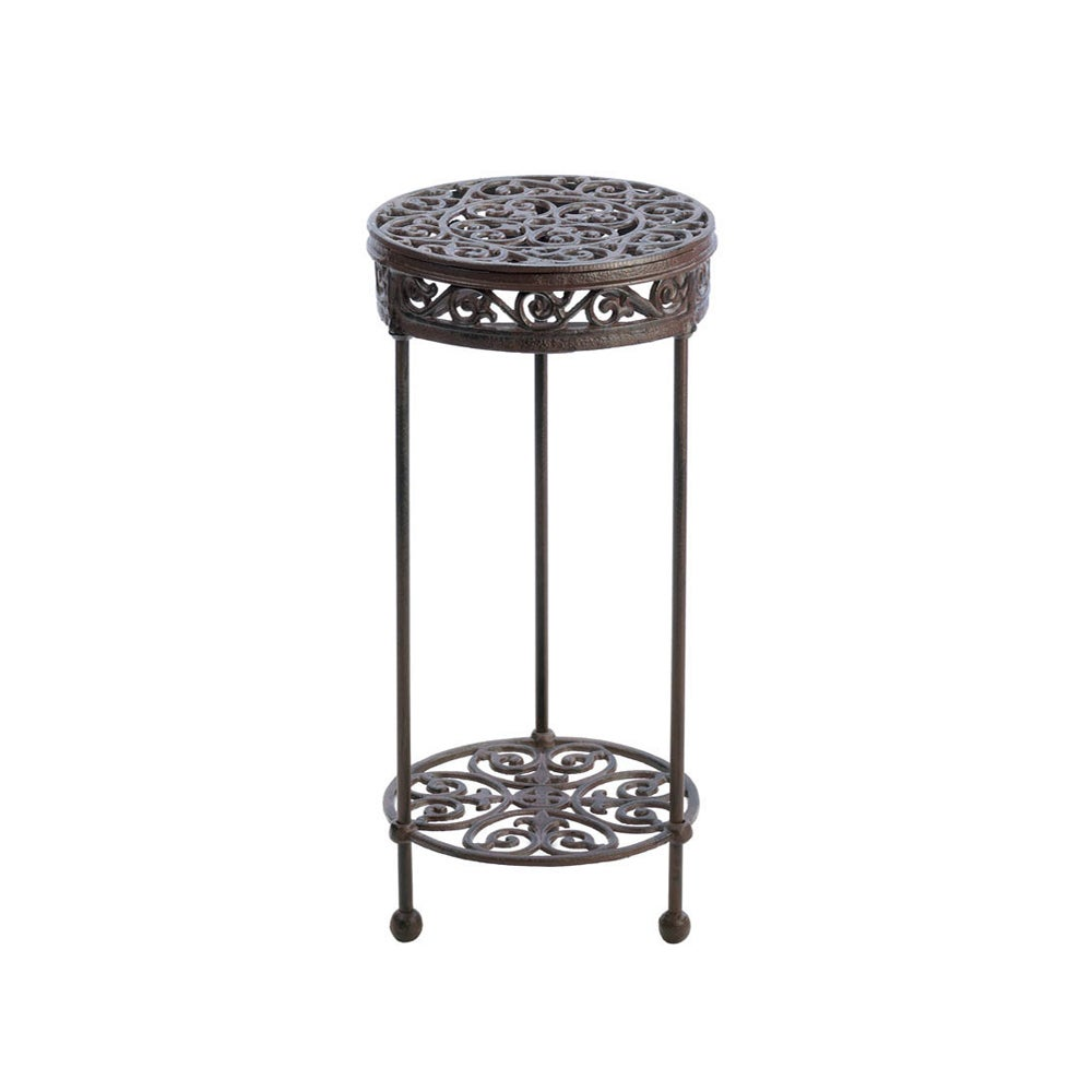 Koehler Home Decor Cast Iron Round Plant Stand (Plant Sta...