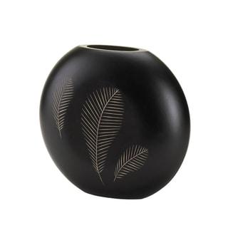 Koehler Home Decor Wooden Feather Imprint Vase