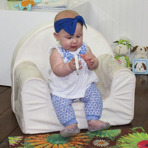 Candide Plush Toddler Armchair