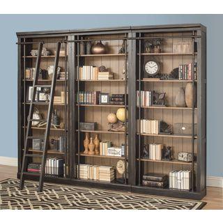 Tabanac Brown Wood 3-bookcase Wall