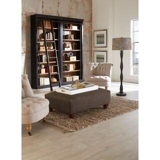Tabanac Brown Wood Double Bookcase