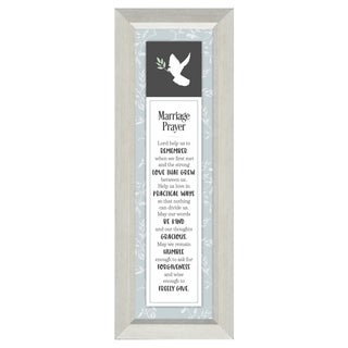 Marriage Prayer - Lord, help us to remember when we first met and the strong love that grew between us 6 x 16 Framed Art
