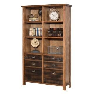 Hermitage Brown Wood Bookcase