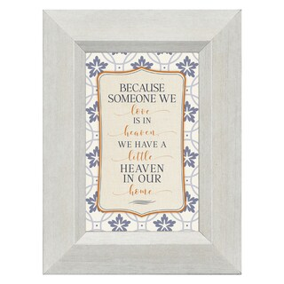 James Lawrence 'Because Someone We Love Is in Heaven, We Have a Little Heaven in Our Home' Framed Art