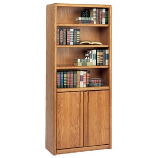 Cardiff Brown Wood Library Bookcase