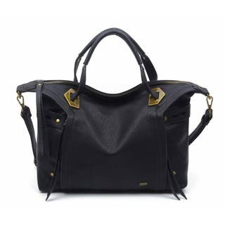 Ampere Creations Vegan Leather Ali Satchel Handbag|https://ak1.ostkcdn.com/images/products/16197799/P22569628.jpg?impolicy=medium