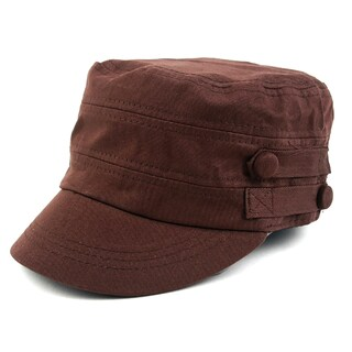 Pop Fashionwear Cool New Military Style Spring/Summer Hat (Option: Brown)
