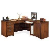 Mission Park Brown Wood Right L-Shaped Desk