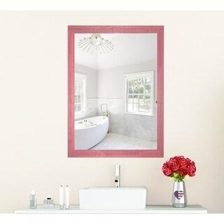 U.S. Made Vintage Pink Framed Mirror
