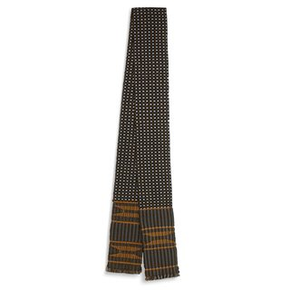 Handmade Cotton Blend Kente Cloth Scarf, 'Pebbles' (Ghana)