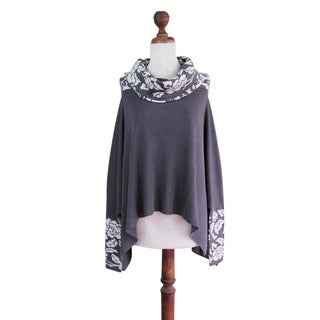 100% Alpaca Poncho, 'Snow Valley' (Peru)