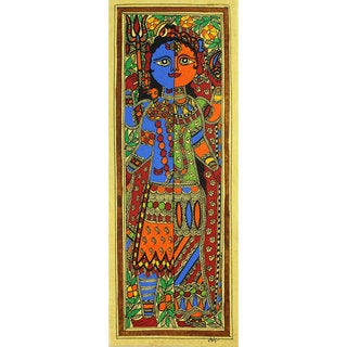 Handmade Ardhnareshwar Madhubani Painting (India)
