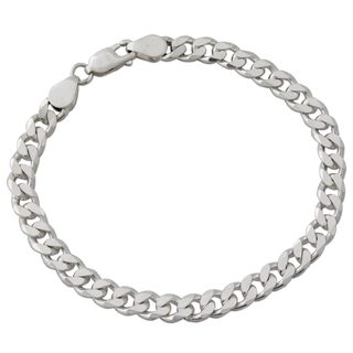 Handmade Men's Sterling Silver Link Bracelet, 'Hip Hop Connection' (India)
