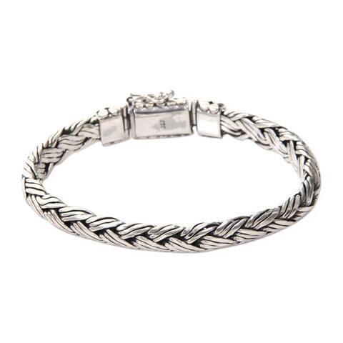 Men's Sterling Silver Bracelet 'Wisdom' (Indonesia)