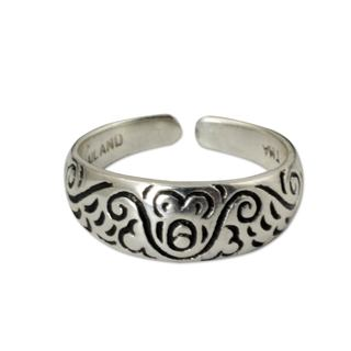 Sterling Silver Toe Ring, 'Monkey Walk' (Thailand)