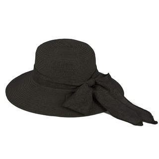Pop Fashionwear Women's Straw Wide Brim Fancy Ribbon Floppy Hat