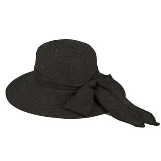 2a1da5fabc4 Pop Fashionwear Women s Straw Wide Brim Fancy Ribbon Floppy Hat