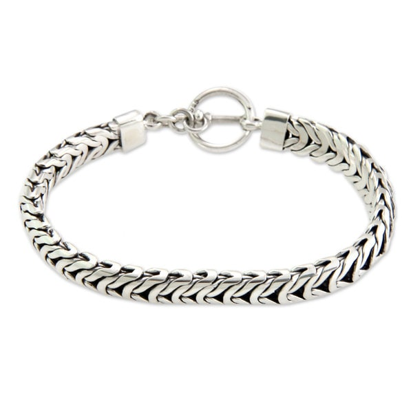 Men X27 S Sterling Silver Braided Bracelet
