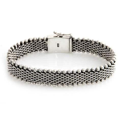 Men's Sterling Silver Bracelet, 'The Hero' (Indonesia)