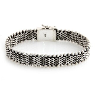 Men's Sterling Silver Bracelet, 'The Hero' (Indonesia)