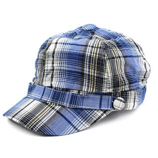 Pop Fashionwear Unisex 3 Button Plaid Cadet Style Hat https://ak1.ostkcdn.com/images/products/16198583/P22569906.jpg?impolicy=medium