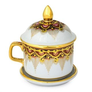 Benjarong Porcelain Teacup, 'Thai Iyara' (Thailand)