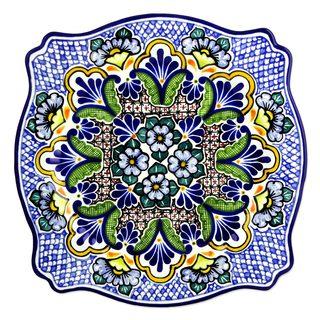 Ceramic Plate, 'Talavera Kaleidoscope' (Mexico)