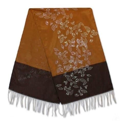 Handmade Summer Equinox Silk and Cotton Table Runner (Thailand)
