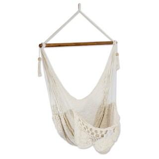 Handmade Cotton Hammock Swing, 'Montelimar Sands' (Nicaragua)