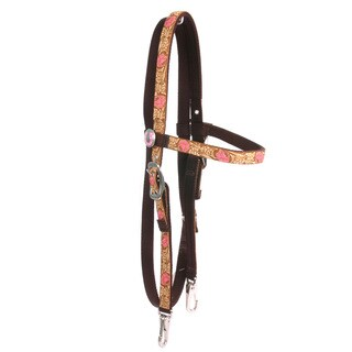 Red Haute Horse Leather Rose Pink Headstall Average