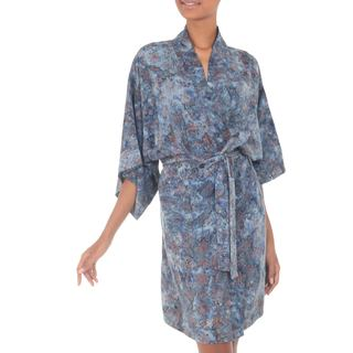 Batik Robe, 'Jasmine Sky' (Indonesia)