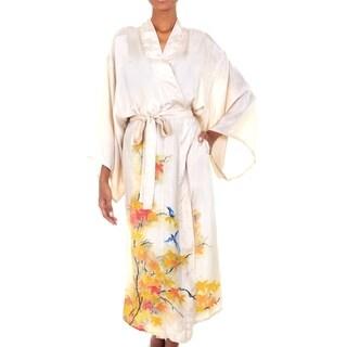 Silk Robe, 'Golden Island' (Indonesia)