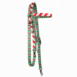 Red Haute Horse Peppermint Stick Headstall Average