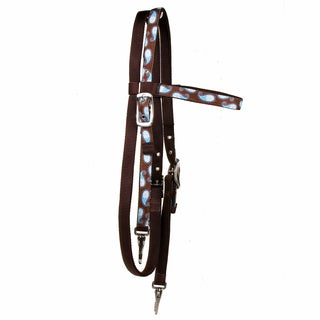 Red Haute Horse Brown Paisley Headstall Average