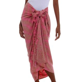 Rayon Sarong, 'Coral Flow' (Indonesia)