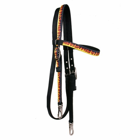 Red Haute Horse Red Flame Horse Headstall