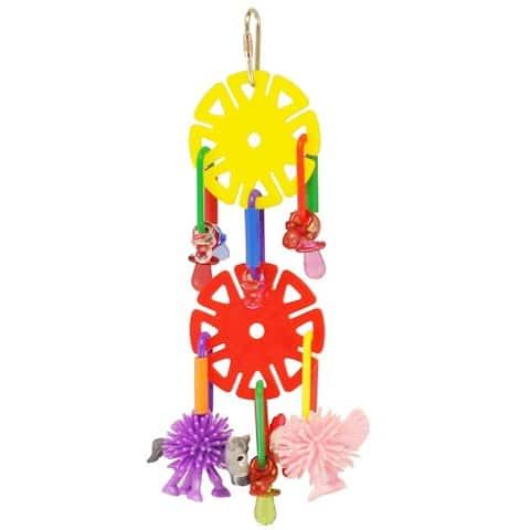 Happy Beaks Spikey Friends & Sun Chips Bird Toy
