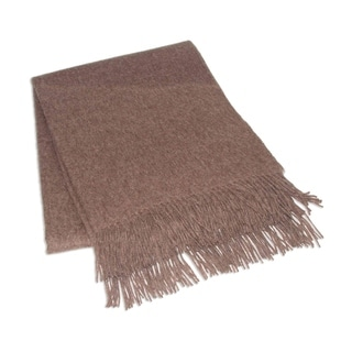 Cozy Brown 100-percent Alpaca Throw (Peru)