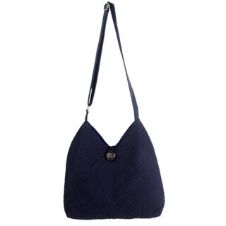 Cotton Hobo Bag With Coin Purse, 'Surreal Blue' (Thailand)