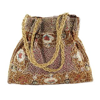 Beaded Evening Bag, 'Mughal Treasure' (India)