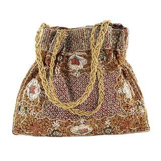 Beaded Evening Bag, 'Mughal Treasure' (India)