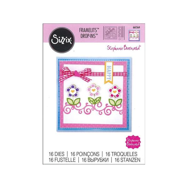 Sizzix SBarnard Framelits Die Card Drop In Borders