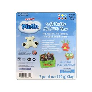 Polyform Pluffy Clay Multipack Primary